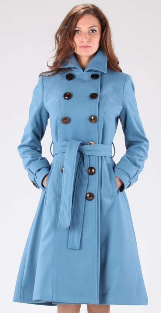 Palton albastru cordon