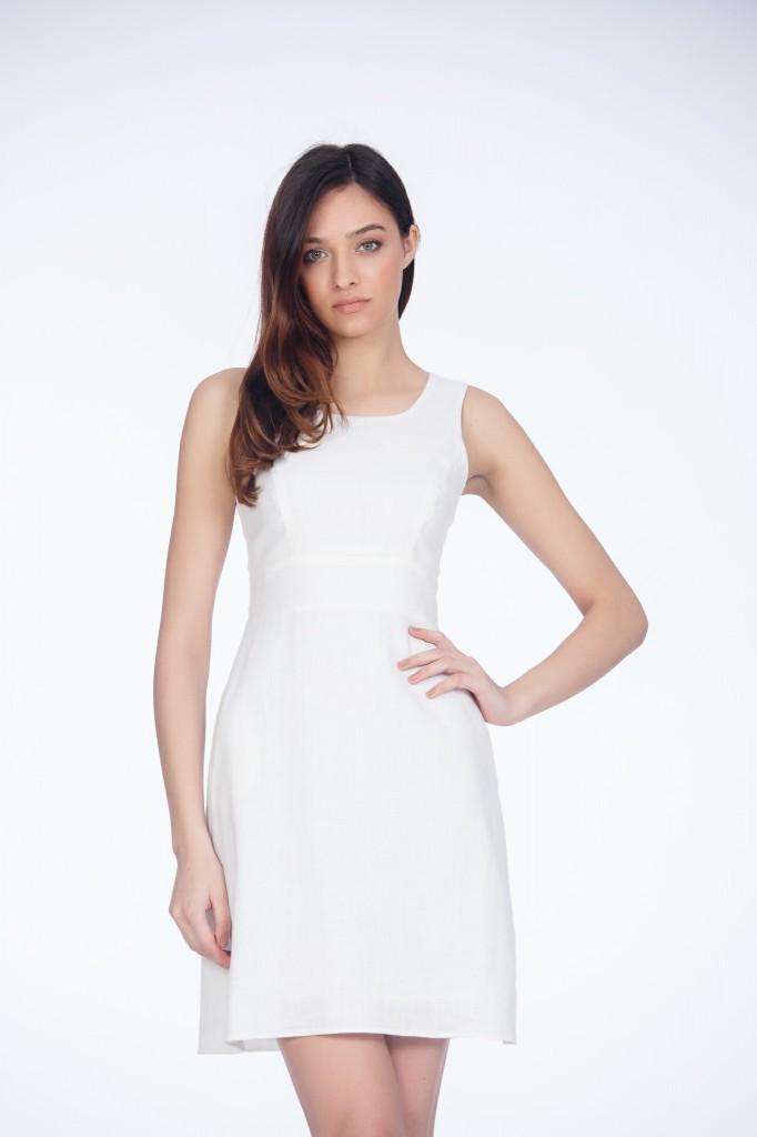 Rochie Albă Din In